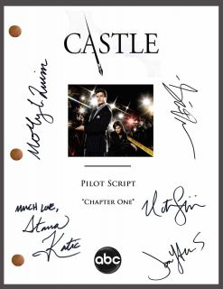 Signed TV Pilot Script by 5 *Nathan Fillion *Stana Katic *Seamus Dever