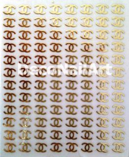 Nail Art Logo Design Label Foil Metal Decorative Decals Seals Stickers