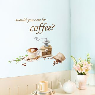 Beans Wall Art Kitchen Decorative Sticker Paper Bistro Café