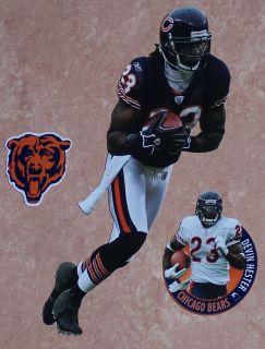 Devin Hester Mini Fathead NFL Chicago Bears Logo