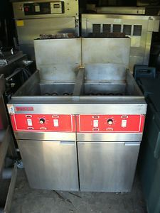 Vulcan Deep Fat Fryer Commercial 2GRD45 Natural Gas w Filter System