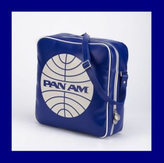 Retro Style Pan Am Defiance Bag Purse Tote in Pan Am Blue
