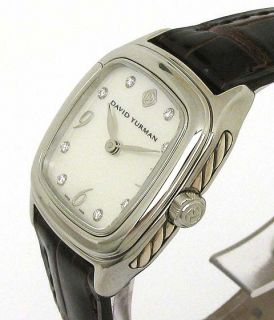 David Yurman Thoroughbred s s Diamonds MOP Wrist Watch