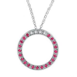 title diamond pink sapphire circle pendant necklace by morris david