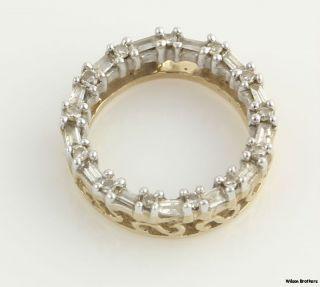 Diamond Circle Pendant 0 18ctw 10K White Yellow Gold 14mm Fine Womens