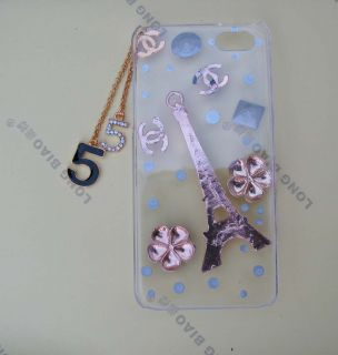 Handmade Eiffel Tower Bling Diamond Crystal Case Cover for iPhone 5 5g