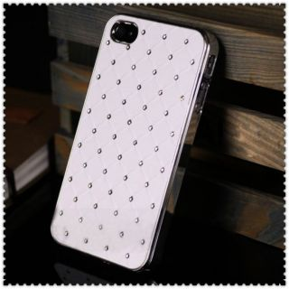 White Luxury Bling Diamond Crystal Hard Back Case Cover For Apple
