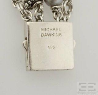 Michael Dawkins Sterling Silver 4 Strand Pearl Bracelet