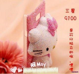 Hello Kitty Pearl Diamond Crystal Hard Case Cover Samsung Galaxy Note