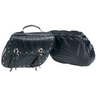 Diamond Plate™ 2pc Rock Design Genuine Buffalo Leather Motorcycle