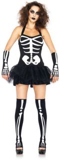 Adult Women Day Of The Dead Skeleton Costume