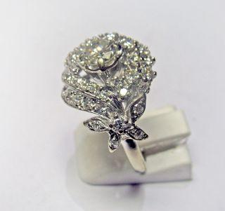 14Kt. White Gold Antique Mounting 2.10 Carat J SI2 Diamond Ring Circa