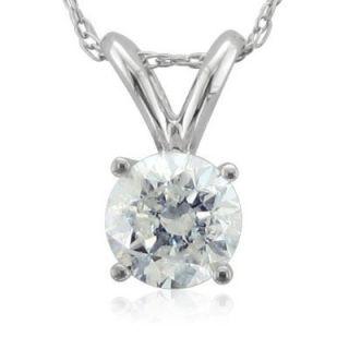 14k Gold Solitaire Diamond Pendant Necklace 0 50 Carat