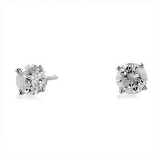 14k White Gold 0 64ct Diamond Stud Earrings