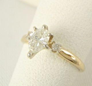 2500 Gorgeous .41ct VVS2 Pear Cut Diamond Engagement Ring 14k Yellow