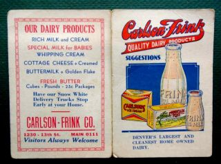 antique Victorian Carlson Frink Dairy Ice Cream Milk Denver Co