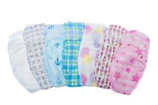 Newborn Baby Skull Pattern Diapers Can Be Used w Halloween Costume