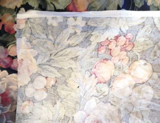 Beautiful Barkcloth New Fabric Fruit Flowers Vines