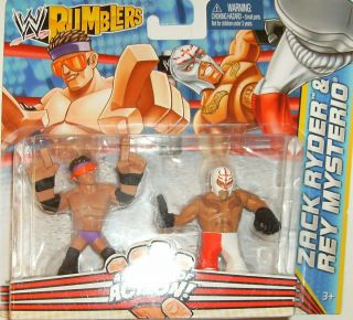 Action Figure Rumblers Zack Ryder & Rey Mysterio 2 Pack RARE COOL LOOK