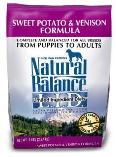 Natural Balance Sweet Potato and Venison Formula Dog Food, 5 Pound Bag