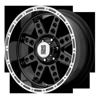 18 X 9 XD DIESEL XD766 GLOSS BLACK WHEELS 18 INCH RIMS 0MM