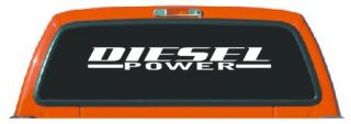 Diesel Power Windshield Anywhere Decal Sticker RAM F250 40in