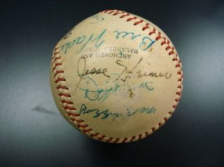 Vintage St Louis Cardinals Gashouse Gang Reunion Signed Baseball