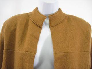 Deane White Mustard Yellow Wool Long Jacket Coat Sz M