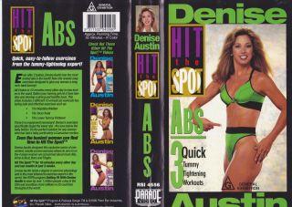 Denise Austin Hit The Spot ABS VHS Video PAL A RARE Find