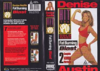 DENISE AUSTIN ~ FAT BURNING BLAST A RARE FIND~ VHS VIDEO PAL~