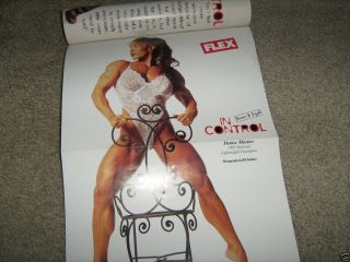 Flex Bodybuilding Muscle Mag Denise Masino Don Long Flex Wheeler w