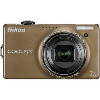Nikon Coolpix S6000 Digital Camera Bronze Refurbished 018208262168