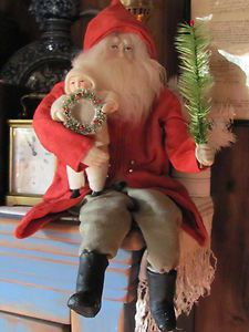 Norma Decamp German Posable Santa Sitting Child Tree