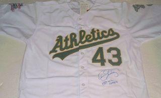 Dennis Eckersley Signed Oakland Athletics 1989 World Series Jersey