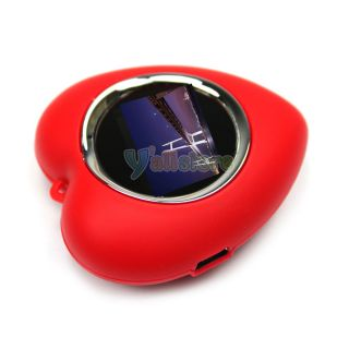 New 1 1 LCD Screen Heart Shaped Digital Photo Frame Red