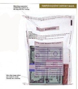 Bank Deposit Tamper Proof Bags Clear Pack of 500 Bags