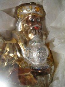 Dillards Blown Glass Ornament Three Wise Men New Poland