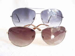 Black Silver Metal Aviator R110S Womans Mens Sunglasses New