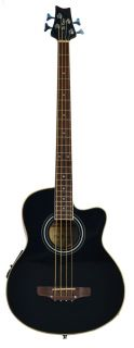 New Black DeRosa Acoustic Electric Bass Guitar with 4 Band EQ