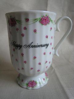 1980 Enesco Petite Fleurs de Paris Anniversary Novelty Coffee Mug Cup