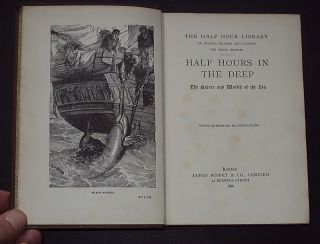 Half Hours in The Deep Oceans Fishes Corals 1896 1st