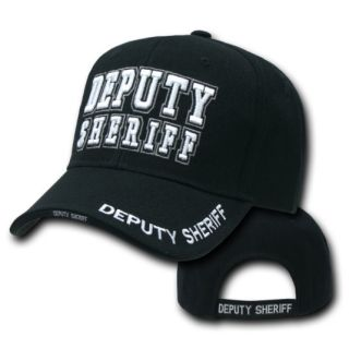 Deputy Sheriff Embroidered Black Police Hat Cap