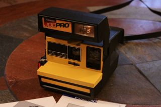 POLAROID JOB PRO 600 Instant CAMERA w Manual Excellent Working