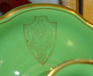 Hall China Deshler Hotel Candesticks Emerald Green