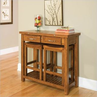 Home Styles Expandable Solid Wood Console Dining Table