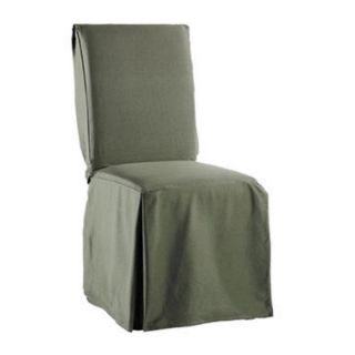 twill supreme long dining room chair cover loden dinner time spills