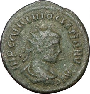 Diocletian 286AD Authentic Genuine Ancient Roman Coin Jupiter Victory