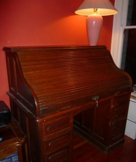 1884 Roll Top Desk with Corbin Cabinet Lock CCL Rolltop
