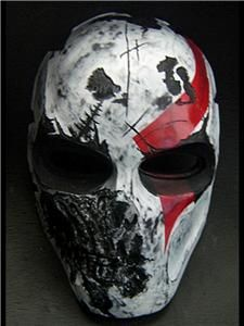 Army of Two Airsoft Paintball BB Mask Black Devil