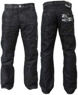 Mens Designer Enzo Indigo Dark Wash 6 Pocket Denim Jeans Latest EZ83